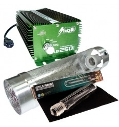 KIT 250W BOLT + COOLTUBE 125MM + SYLVANIA 250 W GROLUX