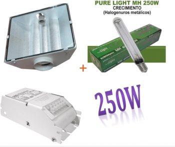 KIT 250W ETI + SPUDNIK 125 DELUXE + PURE LIGHT MH 250 W GROW