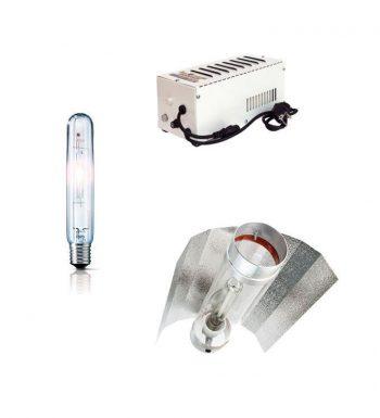 KIT 400W PRO GEAR PLUG & PLAY + REFLECTOR STUCO + PURE LIGHT HPS 400 W BLOOM