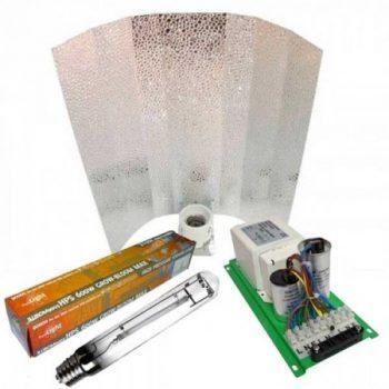KIT 400W PRO GEAR + REFLECTOR STUCO + PURE LIGHT HPS 400 W GROW-BLOOM MAX