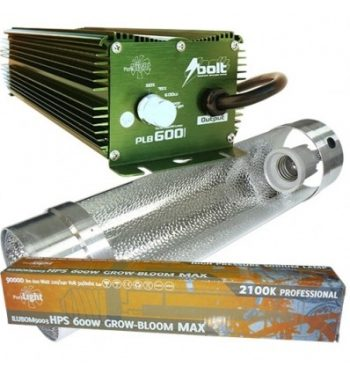 KIT 600W BOLT + COOLTUBE 150MM + PHILIPS MASTER SON T-PIA GREEN POWER 600W