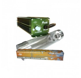 KIT 600W BOLT + COOLTUBE 150MM + PURE LIGHT MH 600 W GROW
